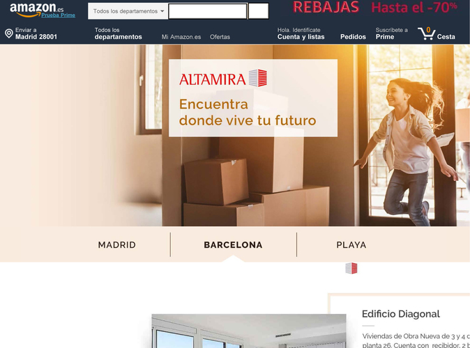 'Look and feel' del microsite de la gestora inmobiliaria en...