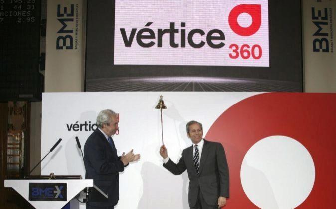 Foto de archivo de la salida a Bolsa de Vértice 360 º en diciembre...