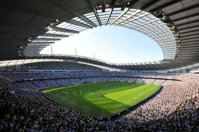 El estadio Ciudad de Mánchester (City of Manchester Stadium en...