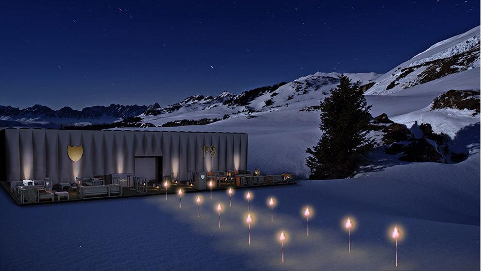Imagen del sofistciado Lodge, un espacio en formato 'pop-up'...