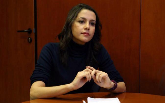 Inés Arrimadas, líder de Ciudadanos en Cataluña en un momento de la...