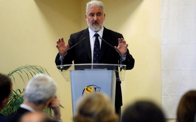 El presidente de Navantia, Esteban García Vilasánchez.