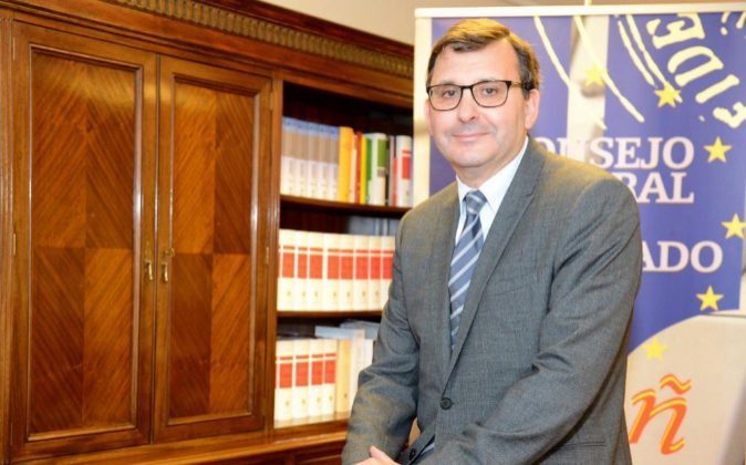 José Ángel Martínez Sanchiz, presidente del Consejo General del...