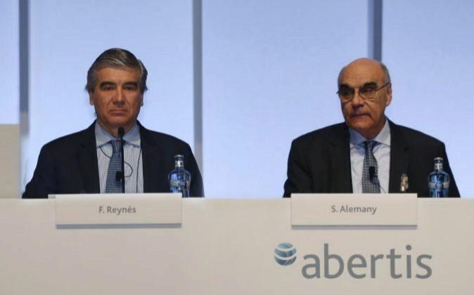 Francisco Reynes y Salvador Alemany, consejero delegado y presidente...