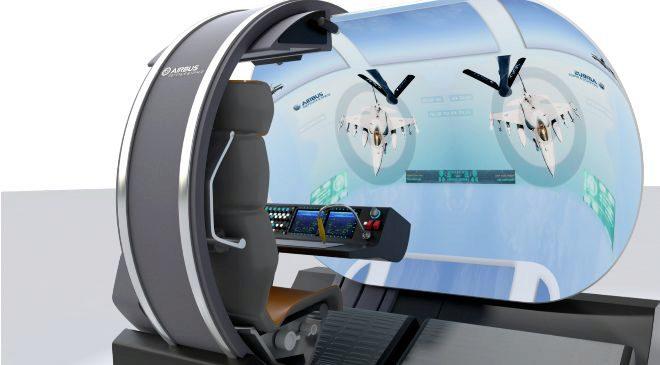 Prototipo de cabina de repostaje para cazas de Airbus.