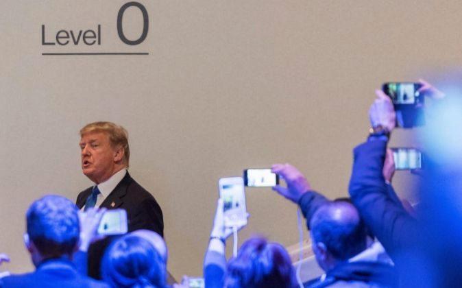 l presidente estadounidense, Donald Trump,ayer en la 48ª edición del...