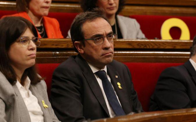 Josep Rull, en el Parlament la semana pasada.