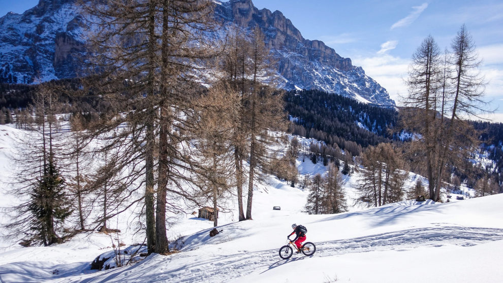 'Snow bike' en Dolomiti Superski.