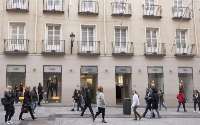 calle Preciados en Madrid.