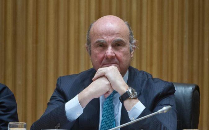 Luis de Guindos,ministro de Economía, Industria y Competitividad.