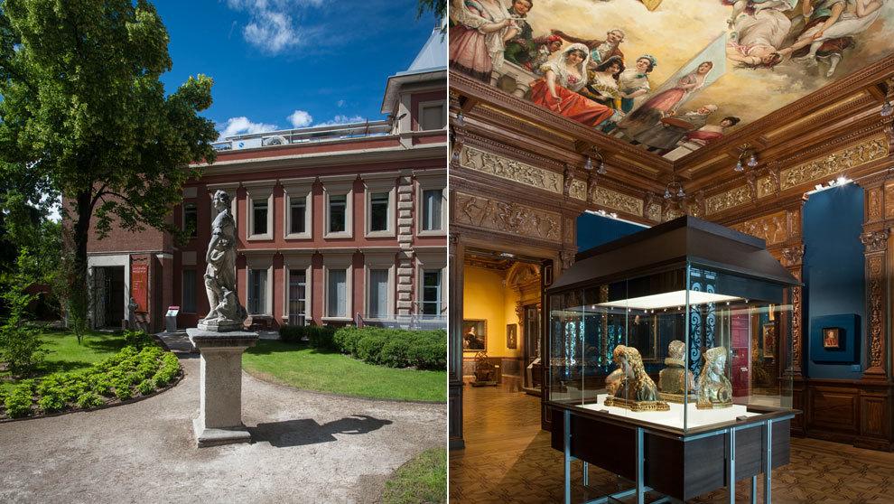 Exterior e interior del Museo Lázaro Galdiano, en la calle de...