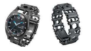 El reloj de Leatherman y la pulsera Tread en la que se ha montado la...