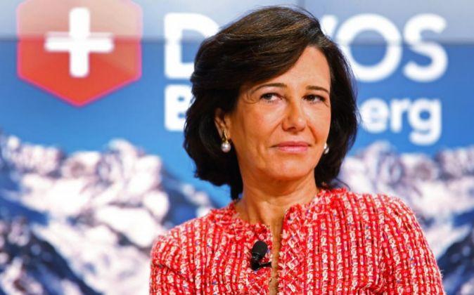 Ana Botin, presidenta de Banco Santander en el pasado Foro de Davos.