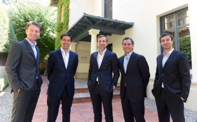 Los socios de miura Private equity  De izquierda a derecha, Jordi...