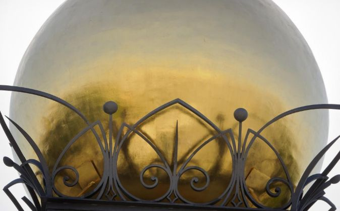 Bola dorada, en la sede del Banco de España, en Madrid.