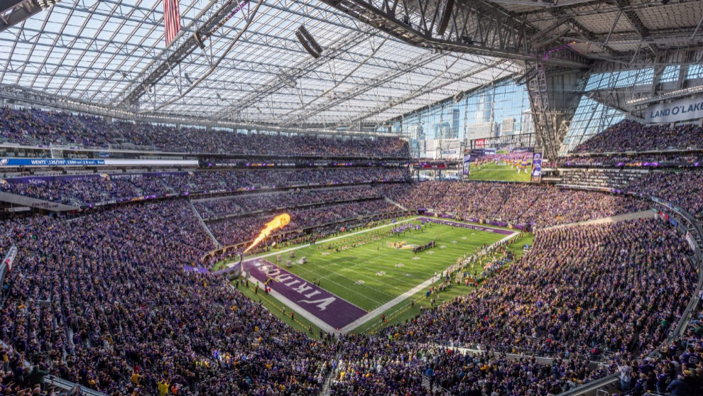 El US. Bank Stadium de Minneapolis donde se disputará la final de la...