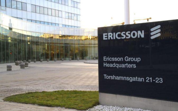 Sede del fabricante sueco de equipos de telecomunicaciones Ericsson en...