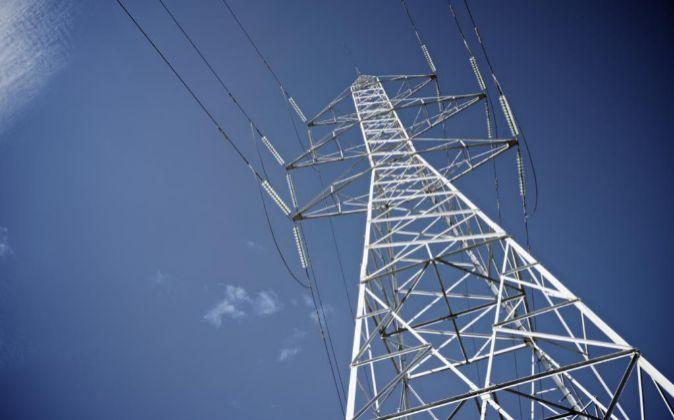 Torreta eléctrica de alta tensión en Zaragoza.
