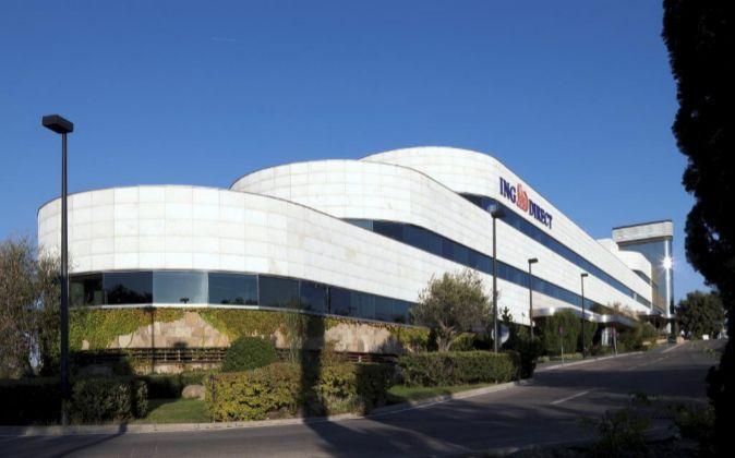 Edificio de la sede central de ING España en Las Rozas.