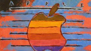 Detalle de la obra de Andy Warho con el logotipo de Apple Macintosh...