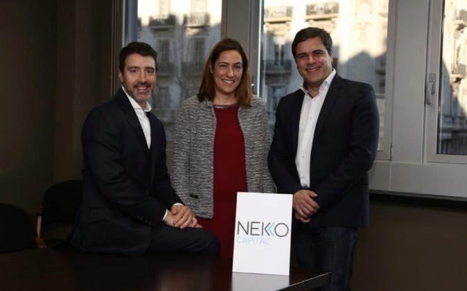 Los socios de Nekko Capital: de izquierda a derecha, Josep Santacana,...