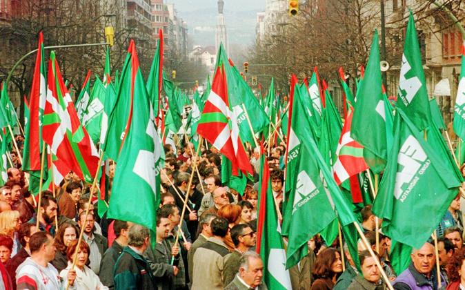 Manifestación del sindicato ELA por la jornada laboral de 35 horas,...
