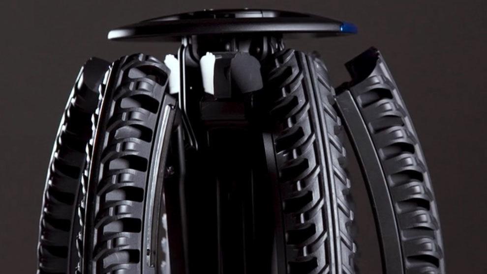 Detalle de cómo queda recogida la rueda e 26 pulgadas.