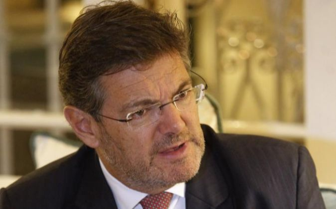 El ministro español de Justicia Rafael Catalá.