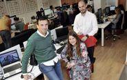 Rafael Moreno, Pilar Choza y Carlos Parra, directivos de Emergya, en...