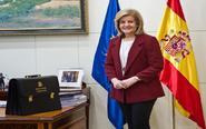 Fátima Báñez, Ministra de Empleo y Seguridad Social, durante la...
