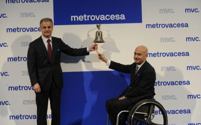Ignacio Moreno, presidente de Metrovacesa, y Jorge Pérez de Leza,...