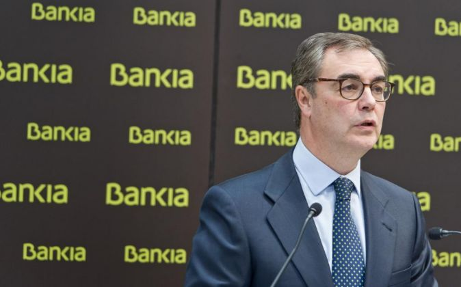 José Sevilla, consejero delegado de Bankia, durante la presentación...