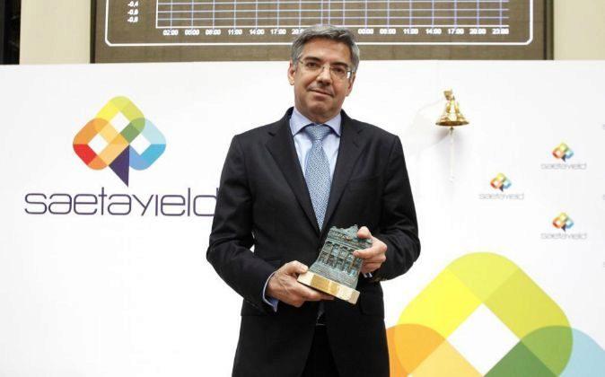 José Luis Martínez Dalmau, presidente de Saeta Yield, en la salida a...