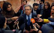 El ministro de Interior, Juan Ignacio Zoido, hoy tras su intervención...