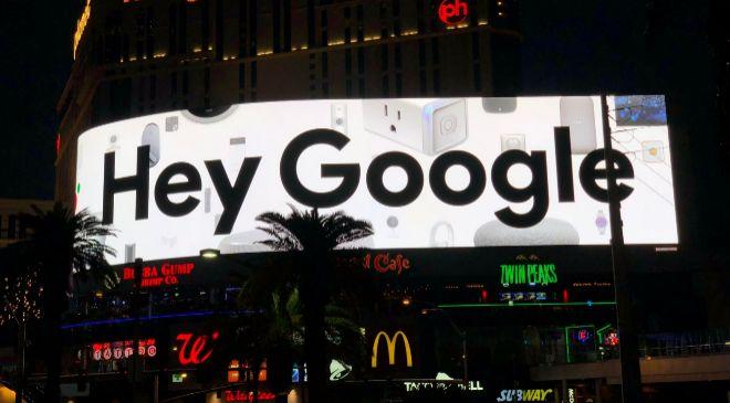 Anuncio de Google en Las vegas