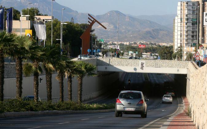 Acceso norte de Alicante.