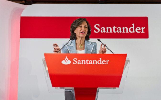 Ana Botín, durante la presentación de resultados del banco el pasado...