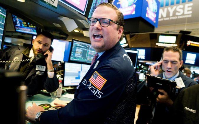 Agentes de la Bolsa de Nueva York.