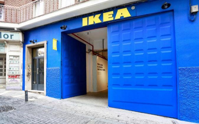 Mini tienda de Ikea en Madrid.