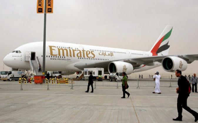 Airbus A380 de la compañía aérea Emirates.