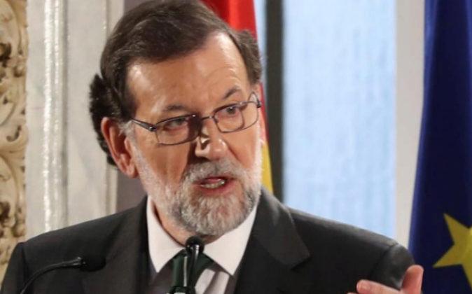 El presidente del Gobierno, Mariano Rajoy, el pasado jueves en el...