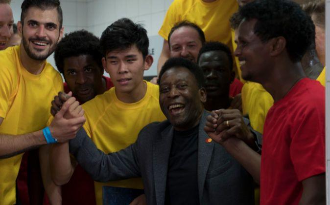 El exfutbolista brasileño Pelé.