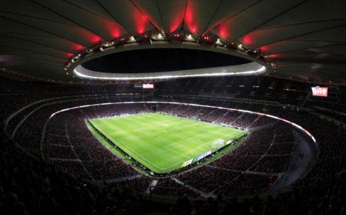 El estadio Wanda Metropolitano del Atlético de Madrid será la sede...