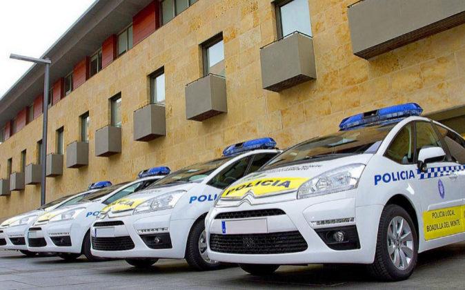 Flota de coches patrulla de la Policía Local de Boadilla del Monte...