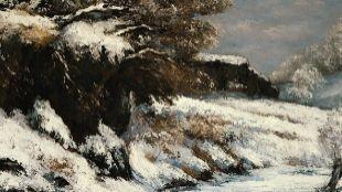 """""""Efecto de la nieve"""", de Gustave Courbet. Precio: 6.534.605..."""