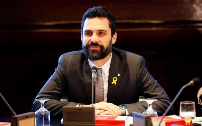 El presidente de la cámara catalana, Roger Torrent.