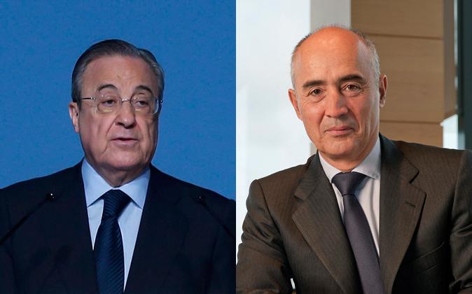 Florentino Pérez, presidente de ACS, y Rafael del Pino, presidente de...