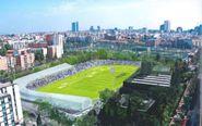 Imagen virtual del guturo estadio de Atletismo de Vallehermoso de...