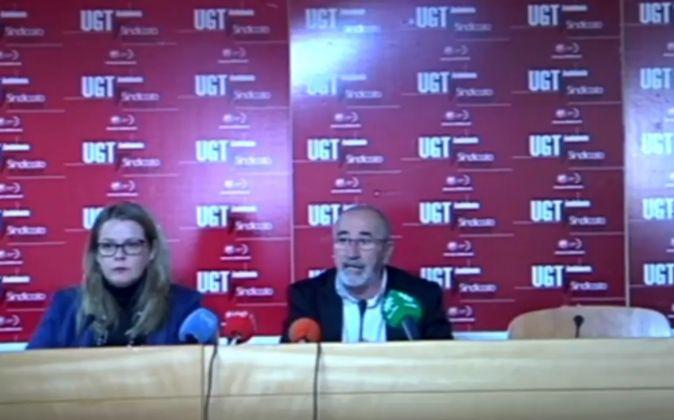 Juan Carlos Hidalgo, ayer, durante su intervención en Sevilla.