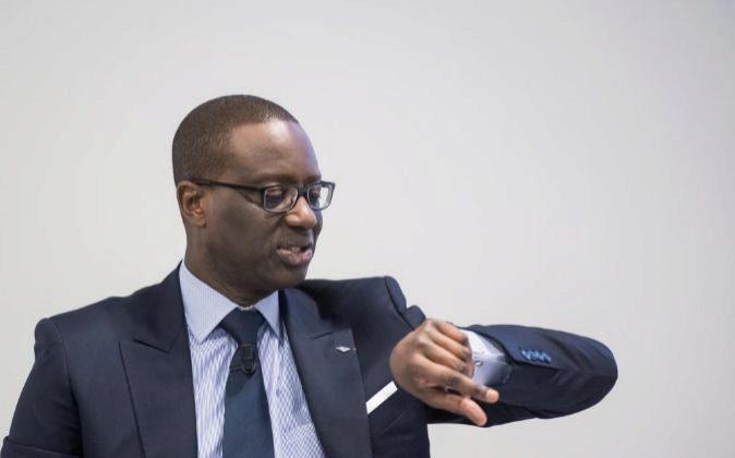 Tidiane Thiam, presidente Credit Suisse, en la presentación de...